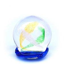 Ocean Blue & Green Swirl Medium Memory Glass Keepsake