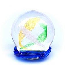Ocean Blue & Green Swirl Memory Glass Keepsake