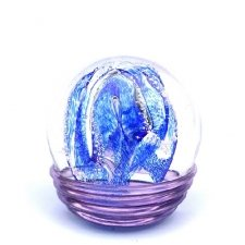 Ocean Blue & Purple Embrace Medium Memory Glass Keepsake