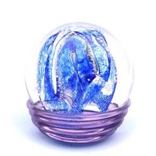 Ocean Blue & Purple Embrace Memory Glass Keepsake