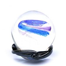 Ocean Blue & Purple Galaxy Memory Glass Keepsake
