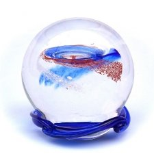 Ocean Blue & Red Galaxy Memory Glass Keepsakes