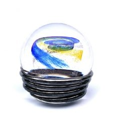 Ocean Blue & Yellow Galaxy Medium Memory Glass Keepsake