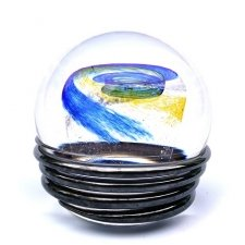 Ocean Blue & Yellow Galaxy Memory Glass Keepsake