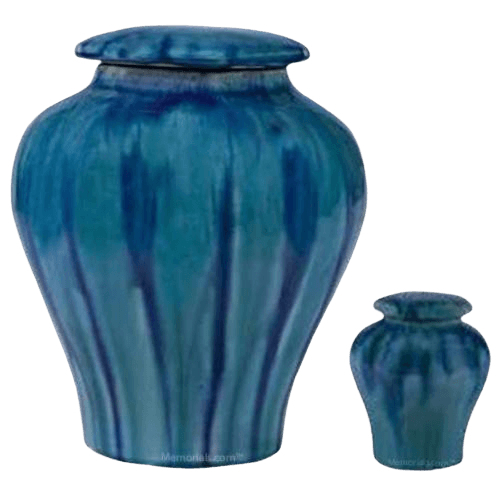 Ocean Blue Ceramic Cremation Urns
