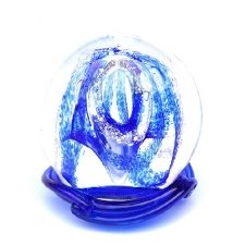 Ocean Blue Embrace Medium Memory Glass Keepsake