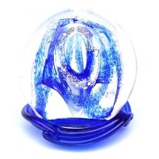 Ocean Blue Embrace Memory Glass Keepsake
