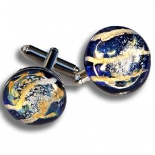 Ocean Cremation Ash Cuff Links