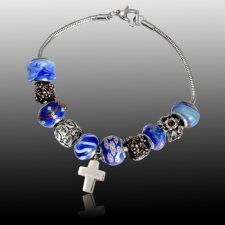 Ocean Cross Cremation Bracelet