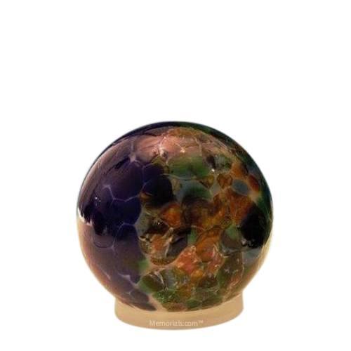 Ocean Orb Small Glass Pet Urn