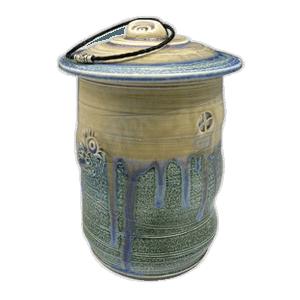 Ocean Temple Soda Fired Urn