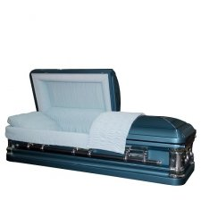 Oceanic Blue Steel Casket