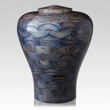 Oceanic Large Wood Urn