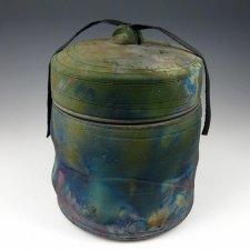 Oceanic Light Raku Cremation Urn
