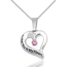 October Heart Keepsake Jewelry