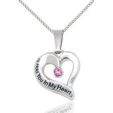 October Heart Keepsake Jewelry
