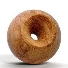 Olive Orb Wood Urns