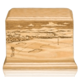 On The Green Wood Cremation Urn