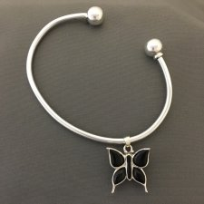 Onyx Butterfly Cremation Bangle