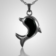 Dolphine Onyx Cremation Jewelry