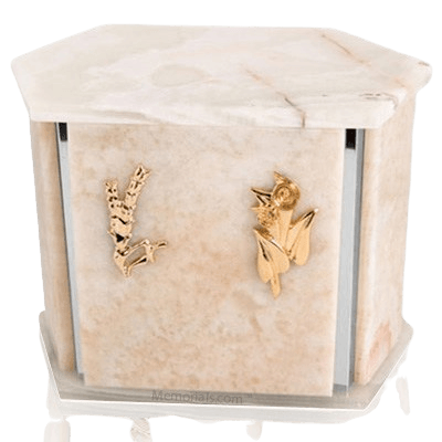 Onyx Hexagon Silver Urn For Two