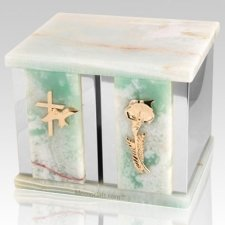 Onyx Peace Silver Urn For Two