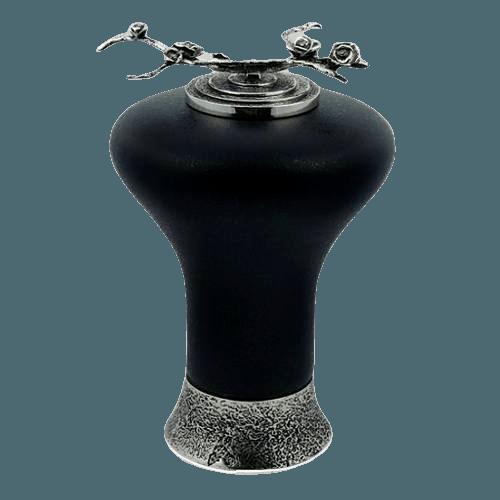 Onyx Rose Glass Cremation Urn