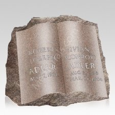 Open Book Companion Granite Headstone