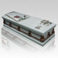 Open Book Casket