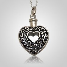 Open Heart Keepsake Pendant