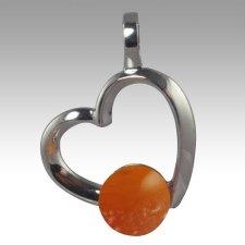 Orange Amore Cremation Ash Pendant