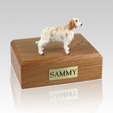 Orange Belton English Setter Dog Urns