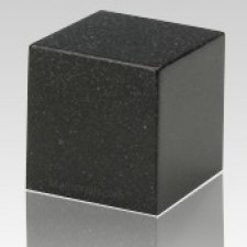 Orca Black Cube Keepsake Cremation Urn