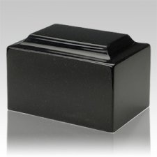 Orca Black Granite Keepsake Cremation Urn