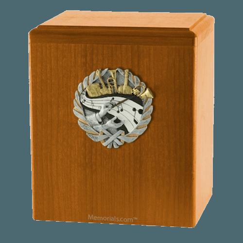 Orchestra Oak Cremation Urn