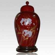 Orchid Red Keepsake Urn