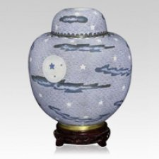 Oriental Night Cloisonne Urn