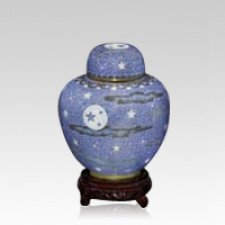 Oriental Night Medium Cloisonne Urn