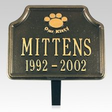 Our Kitty Pet Memorial Plaque