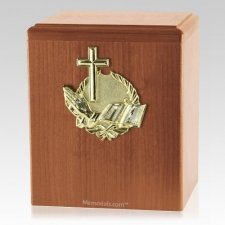 Our Prayer Light Cherry Cremation Urn
