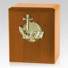 Our Prayer Oak Cremation Urn
