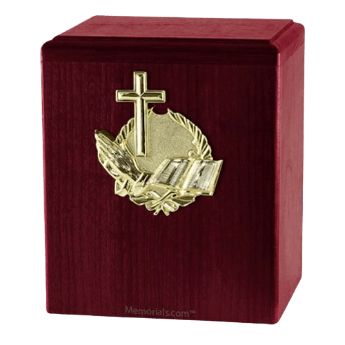 Our Prayer Rosewood Cremation Urn