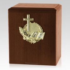 Our Prayer Walnut Cremation Urn