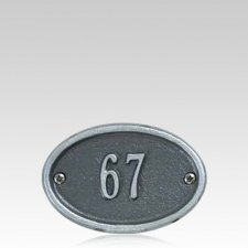 Oval Lot Numeral Marker