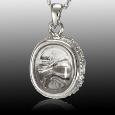 Oval Mirror Cremation Pendant III