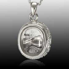 Oval Mirror Cremation Pendant