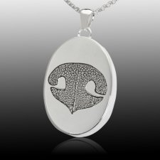 Oval Nose Sterling Print Cremation Keepsake