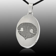 Oval Nose Stainless Print Cremation Keepsake