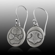 Oval Pet Print Earrings