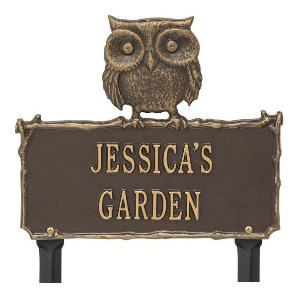 Owl Garden Bronze Dedication Plaque